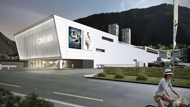 Visualisierung des Kinogebäudes
