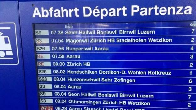 Bahnhof Lenzburg - die Platzverhältnisse sind eng.