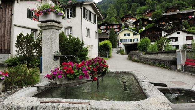 Kein Wasser in Glarner Brunnen