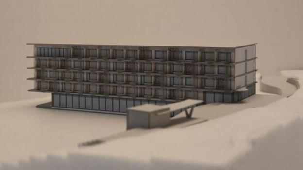 Visualisierung des geplanten Hotels