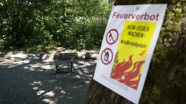 Das Feuerverbot wird vorerst nicht aufgehoben.