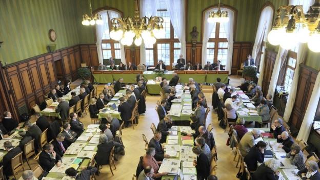 Der Grosse Rat des Kantons Thurgau in Weinfelden.