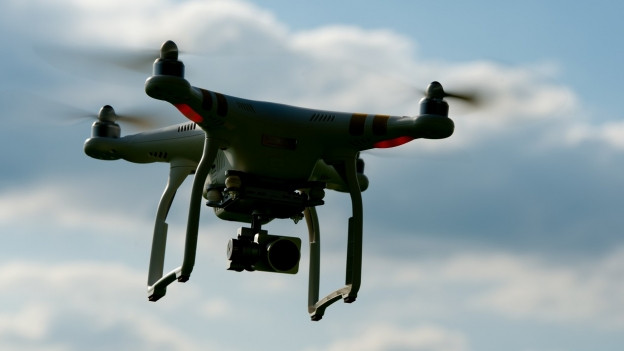 Drohne auf Erkundungsflug