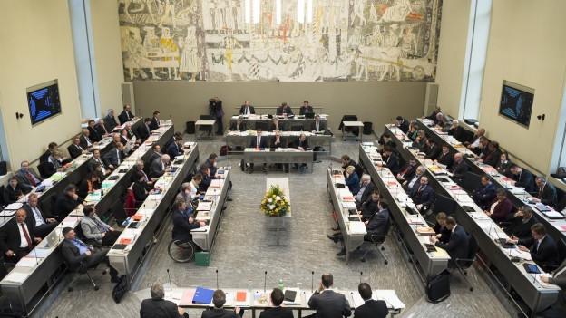 Regierung Graubünden - Blick in den Grossratssaal