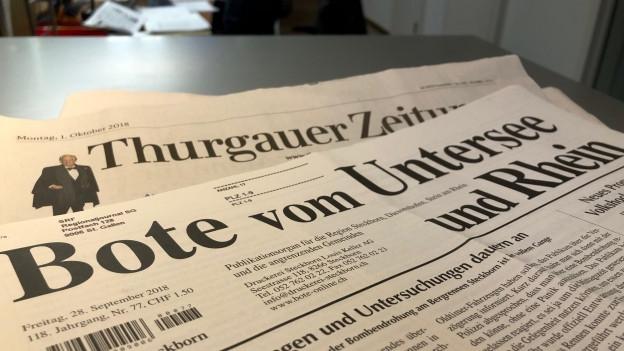 Die Lokalzeitungen im Thurgau kämpfen um Inserate-Einnahmen