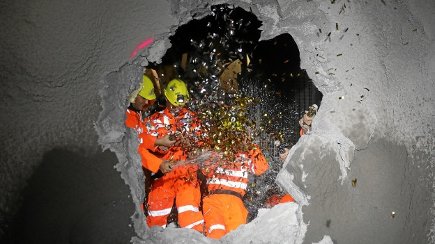 Durchstich Albulatunnel