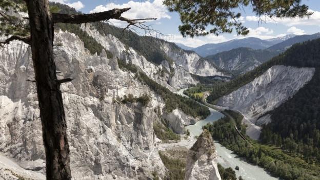 Die Rheinschlucht ist eine geschützte Landschaft.