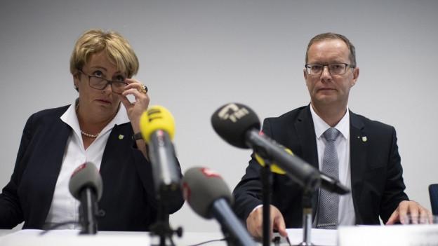 Regierung Thurgau an der Medienkonferenz