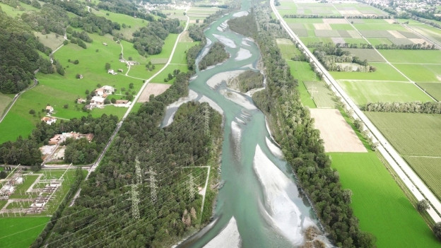 Visualisierung des verbreiterten Rheines