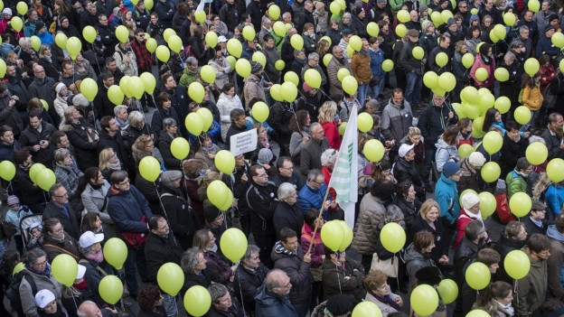 Demonstrationsumzug in St. Gallen