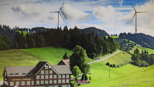 Ansicht des geplanten Windparks in Oberegg