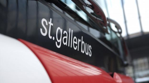 Nahaufnahme eines St. Galler Stadtbusses
