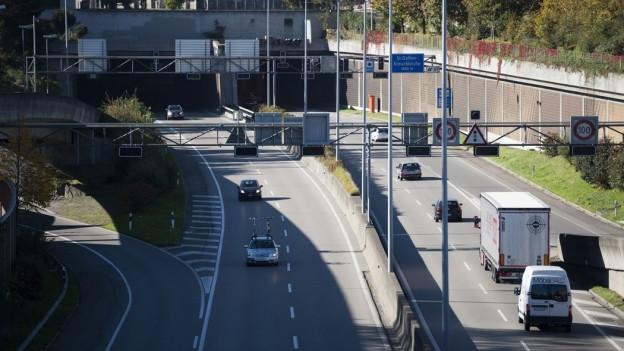 Auf der Autobahnbaustelle in St. Gallen wurden acht Männer verhaftet.