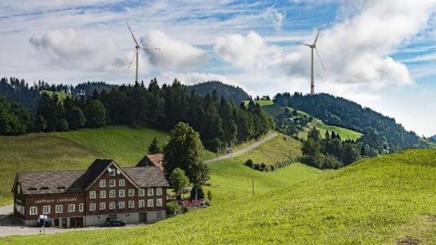 Visualsierung der Windräder in Oberegg