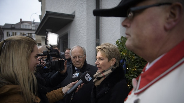 Grosses Medieninteresse für Karin Keller-Sutter