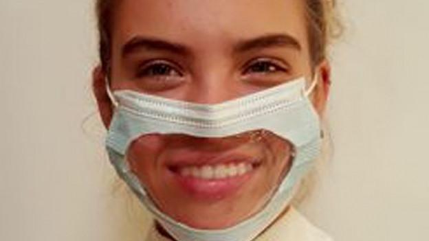 Empa testet transparente Hygienemaske