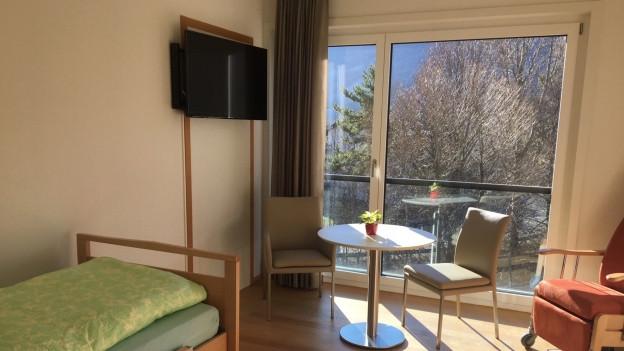 Das Hospiz in Maienfeld bietet Platz für vier Patienten.
