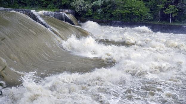 Die Thur mit Hochwasser