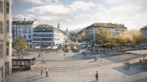 So soll der neue Marktplatz aussehen.
