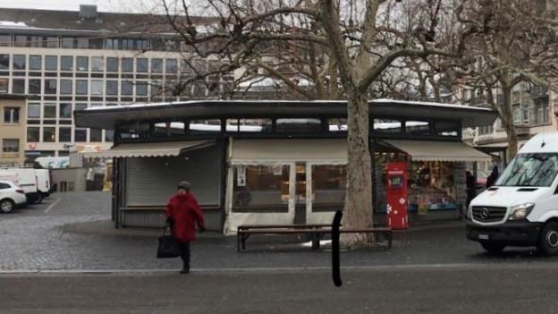 Die Rondelle am Marktplatz in der Stadt St. Gallen.