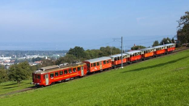 Rorschach-Heiden Bahn unterwegs.