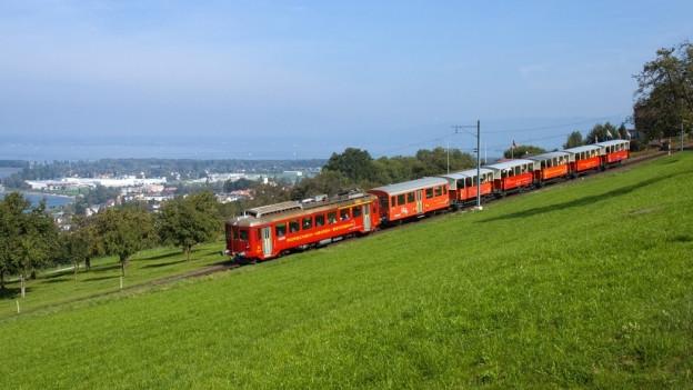 Zahnradbahn von Rorschach nach Heiden.