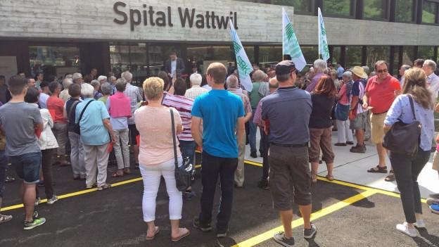 Viele Wattwiler wollen ihr Spital behalten.