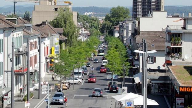 Boulevard von Oben fotografiert