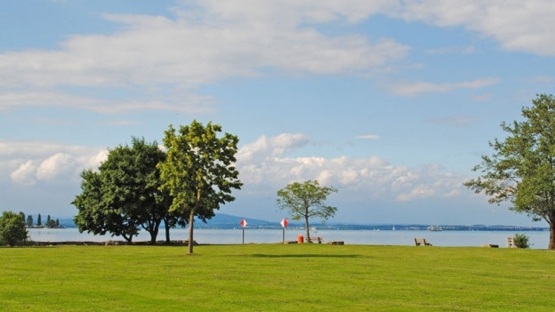 Badewiese in Egnach, Blick auf den See