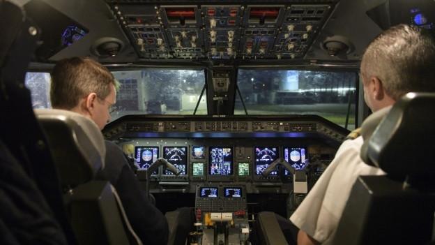 Im Cockpit