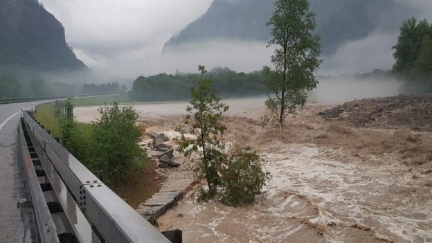 Das Unwetter traf vor allem den Kanton Graubünden.