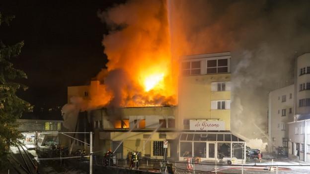 Es war der zweitgrösste Hotelbrand im Kanton Graubünden in den vergangenen 100 Jahren.
