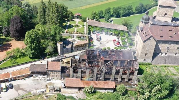 Brandruine beim Schloss Ortenstein
