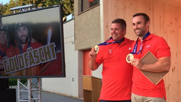 Beat Hefti und Alex Baumann erhalten endlich ihre olympischen Goldmedaillen.