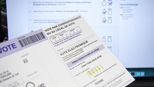 Dokument für Abstimmungen per Internet