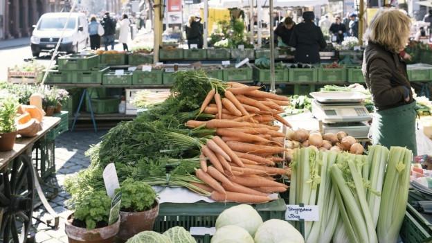 Die Marktstände in St. Gallen dürfen unterschiedlich geöffnet haben.
