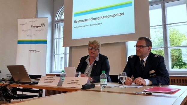 Thurgauer Regierung will mehr Polizistinnen und Polizisten