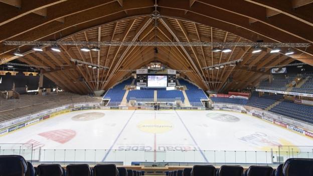 Das 1979 erbaute Eisstadion in Davos wird derzeit saniert.