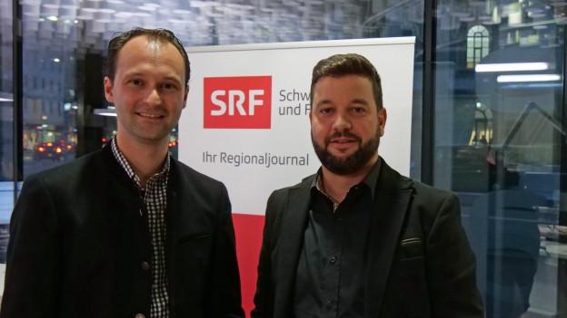 Reto Crameri (CVP, links) und Roman Hug (SVP) debattieren über das künftige Bündner Wahlsystem