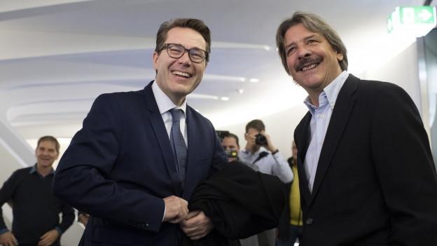 Benedikt Würth und Paul Rechsteiner