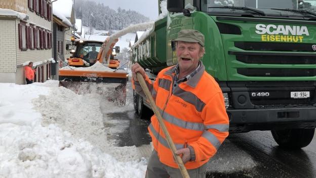 Der erfahrene Schneeräumer aus Oberegg.