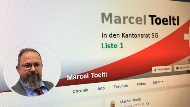 Trotz seinem Parteiausschluss bleibt Toeltl Kantonsratskandidat.