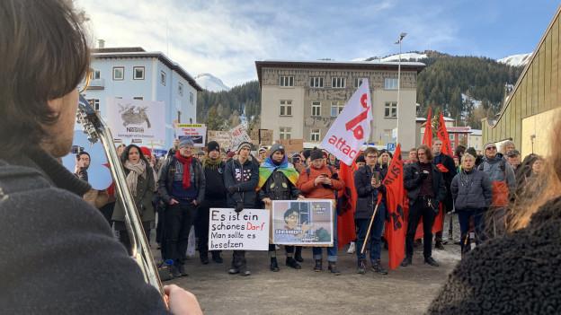 Klimademonstration in Davos am WEF