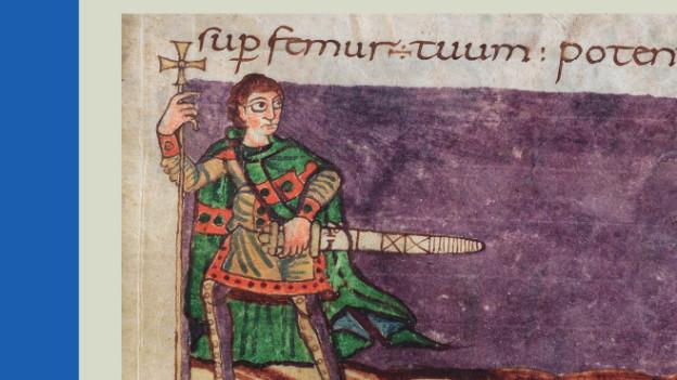 Historisches Bild eines Mannes mit Schwert.
