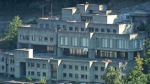 Der Betonbau am Hang von Chur, das Konvikt, wird saniert.