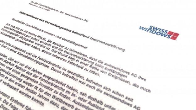 Swisswindows Mörschwil - Konkurs Fensterhersteller