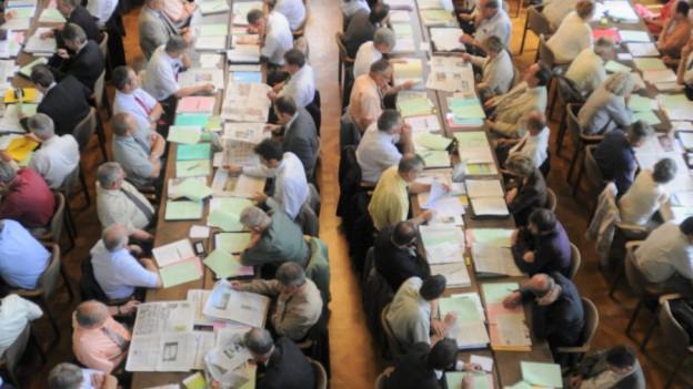 Blick in das Thurgauer Parlament