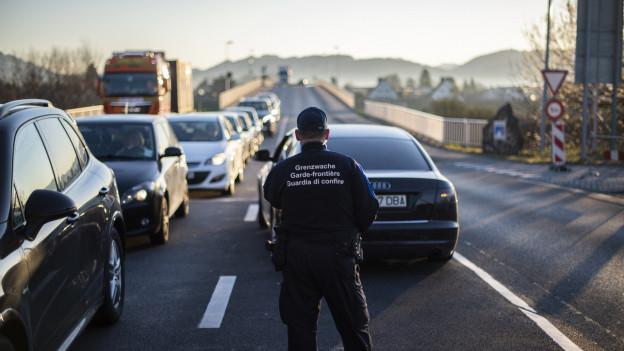 Vermehrte Kontrollen beim Grenzübergang Au.