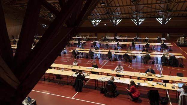 Grosser Rat Thurgau tagt in Turnhalle