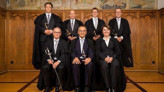 Antonia Fässler (unten rechts) tritt als einziges Regierungsmitglied zurück.